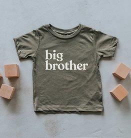 Gladfolk Big Brother Kids Tee - Olive