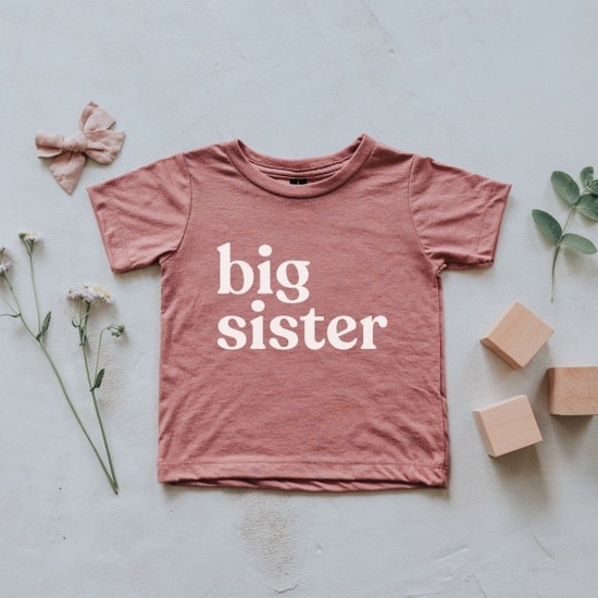 Gladfolk Big Sister Kids Tee - Mauve