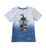 Tea Collection Dip Dye Ship Shape Graphic Tee