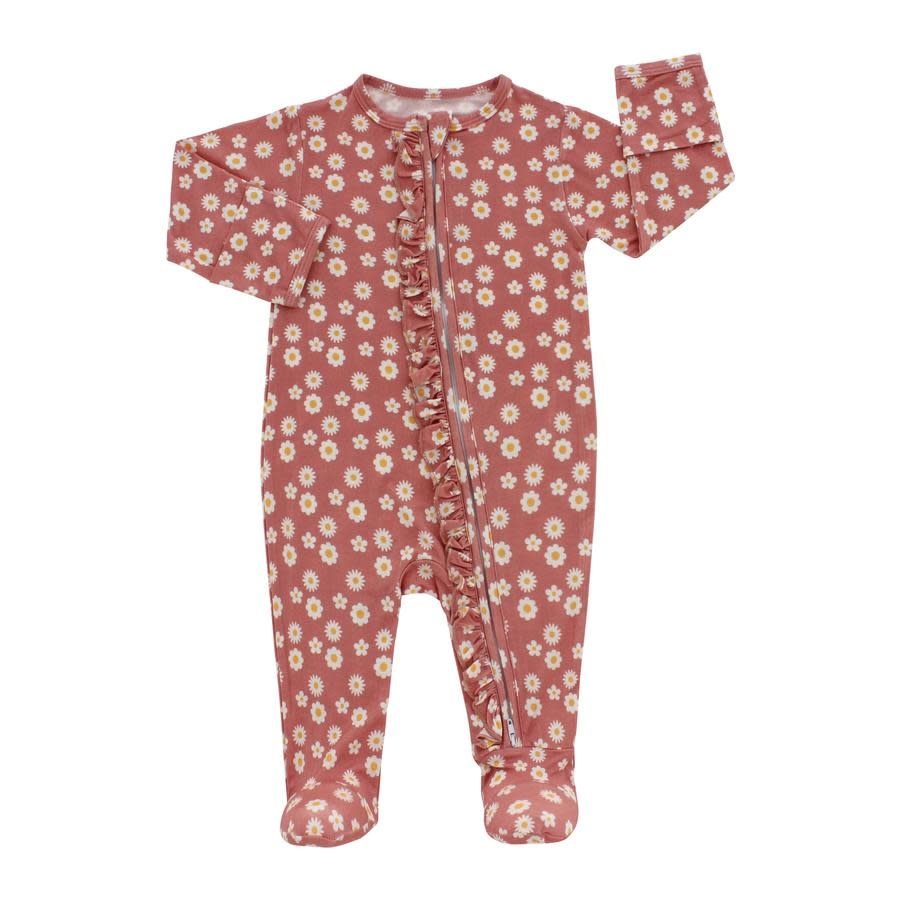 Emerson and Friends Bamboo Footies - Rose Daisy