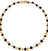 Powell's Owls 12.5'' Baroque Honey/Cherry Amber Necklace