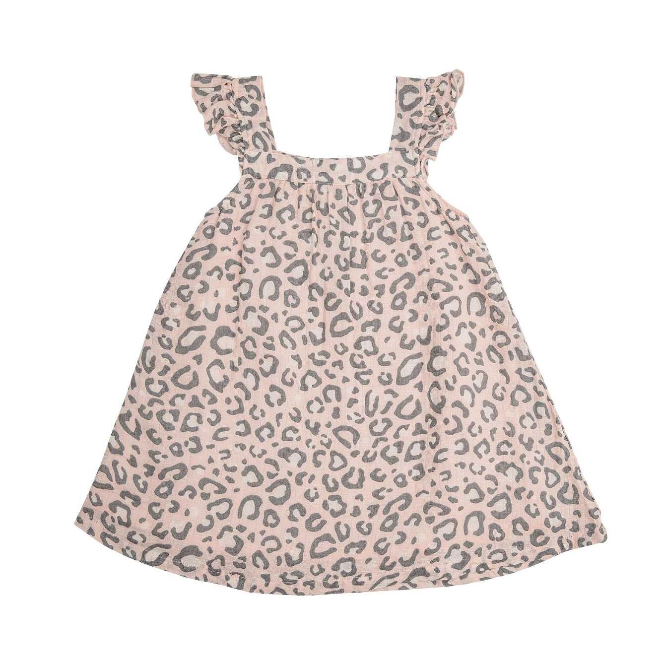 Angel Dear Leopard  Sundress/Diaper Cover Pink 4T