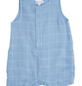 Angel Dear Off The Grid Shortie Romper Blue 12-18M