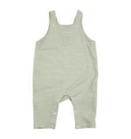 Angel Dear Pocket Overalls, Crayon Dinosaur Green Stripe 18-24M