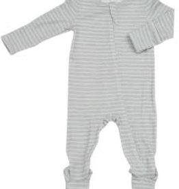 Angel Dear Zipper Footie, Grey Stripe 12-18M