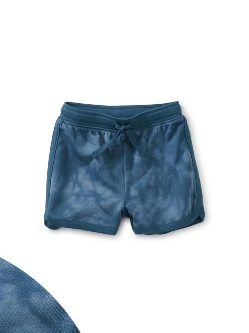 Tea Collection Baby Sport Shorts - Tye Dye in Steel Blue