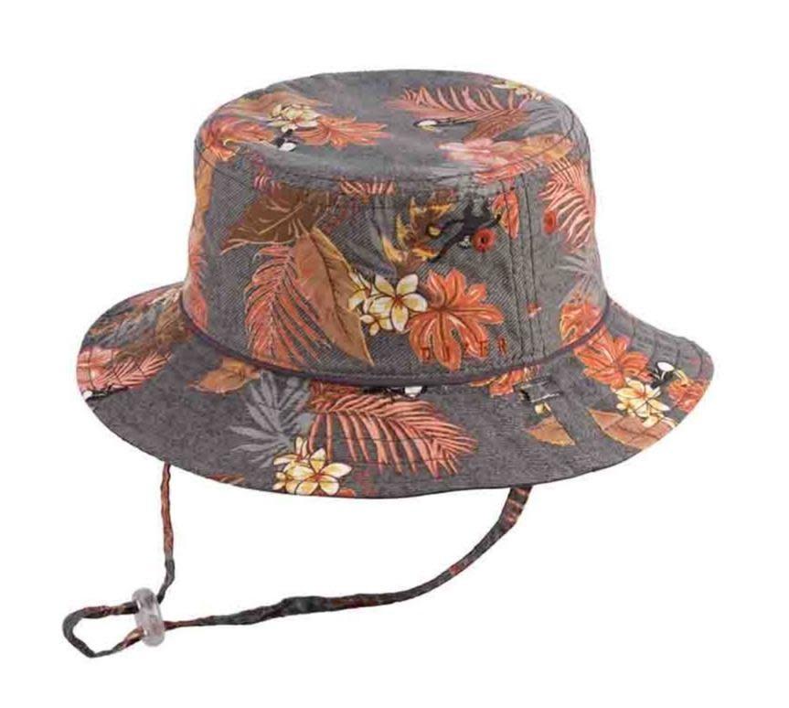 Millymook and Dozer Boys Bucket Sun Hat - Trey/Charcoal