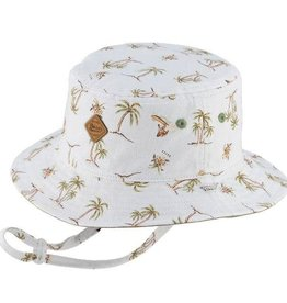 Millymook and Dozer Boys Bucket Sun Hat - Finn/Green