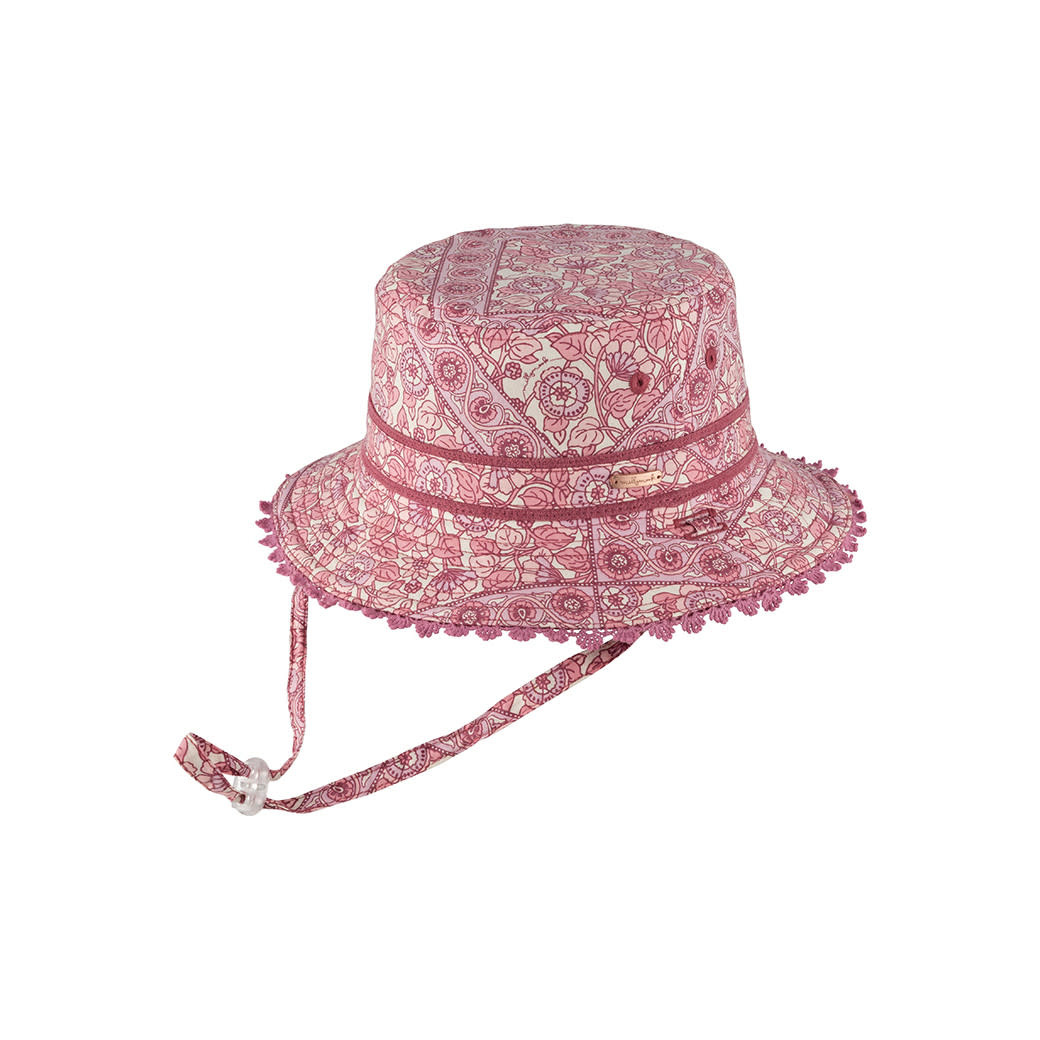 Millymook and Dozer Girls Bucket Hat - Alyssa w Pink