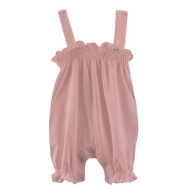 Kickee Pants Solid Gathered Romper Antique Pink