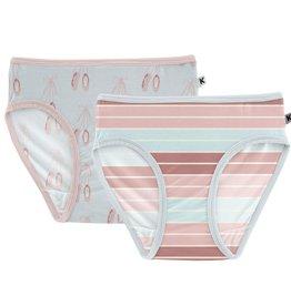 Kickee Pants Underwear Set Fresh Air Ballet & Active Stripe