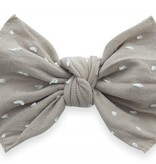 Baby Bling Bows Patterned Shabby Knot - Taupe Dot