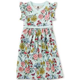 Tea Collection Wrap Neck Dress - Intricate Floral