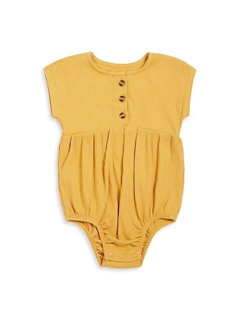 Petit Lem Baby Bubble Romper Knit - Gold