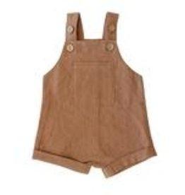 Mebie Baby Short Overalls - Camel