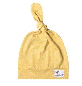 Copper Pearl Top Knot Hat, Marigold 5-18mo