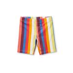 Tea Collection Printed Bike Shorts - Vibrant Stripe
