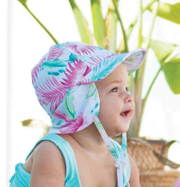 Millymook and Dozer Baby Girls Legionnaire Sun Hat - Kiana White L (12-24m)