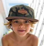 Millymook and Dozer Boys Flat Bill Sun Cap, Kristian Camo OS