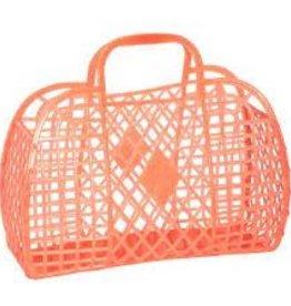 Sun Jellies Retro Basket - Mini Me Neon Orange