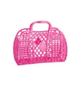 Sun Jellies Retro Basket - Mini Me Neon Pink