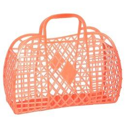 Sun Jellies Retro Basket - Large Neon Orange