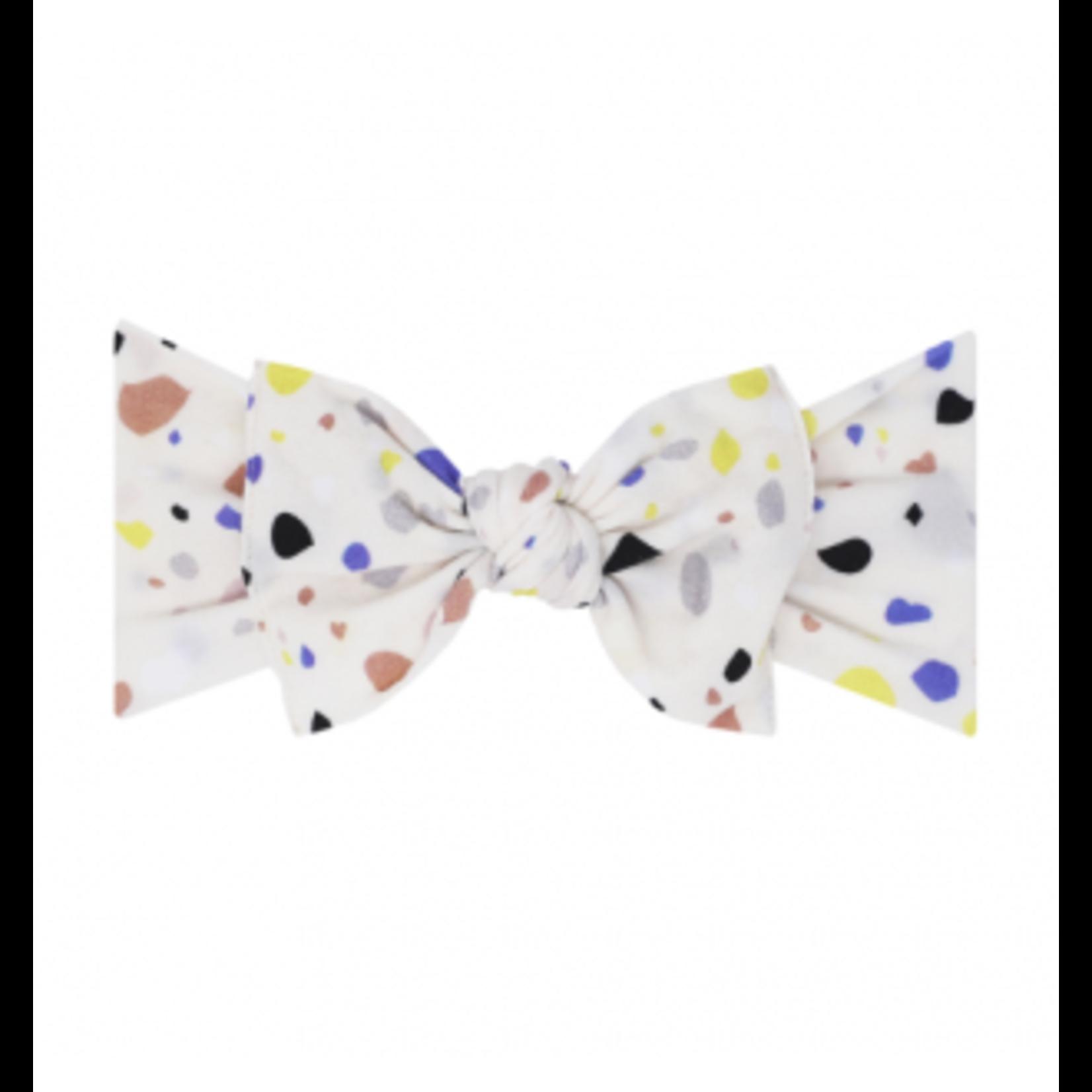Baby Bling Bows Printed Knot - Terazzo