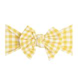 Baby Bling Bows Printed DEB: Mustard Gingham