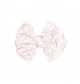 Baby Bling Bows Printed Fab Clip: White Daisy