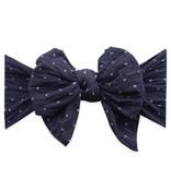 Baby Bling Bows Dang Enormous Bow: Navy Dot