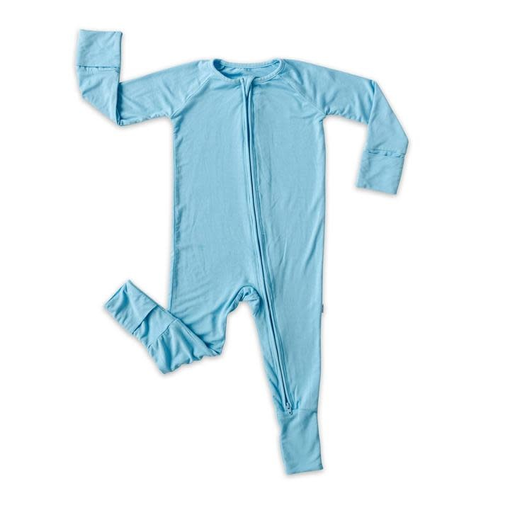 Little Sleepies Convertible Romper/Sleeper Sky Blue