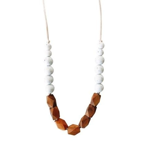 Chewable Charm Teething Necklace - The Harrison Moonstone