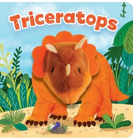 House of Marbles Triceratops Puppet Book