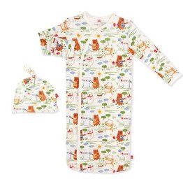 Magnetic Me BBQ Bears Modal Magnetic Sack Gown Set NB-3M