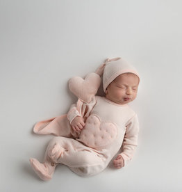 Loved Baby Velveteen Graphic Footie Blush + Lovey 0-3M
