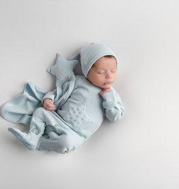 Loved Baby Velveteen Graphic Footie Moonbeam + Lovey 3-6M