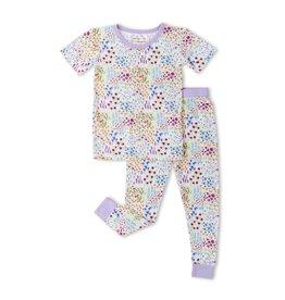 Little Sleepies Two Piece Pajama Set Flower Fields - Short Sleeve