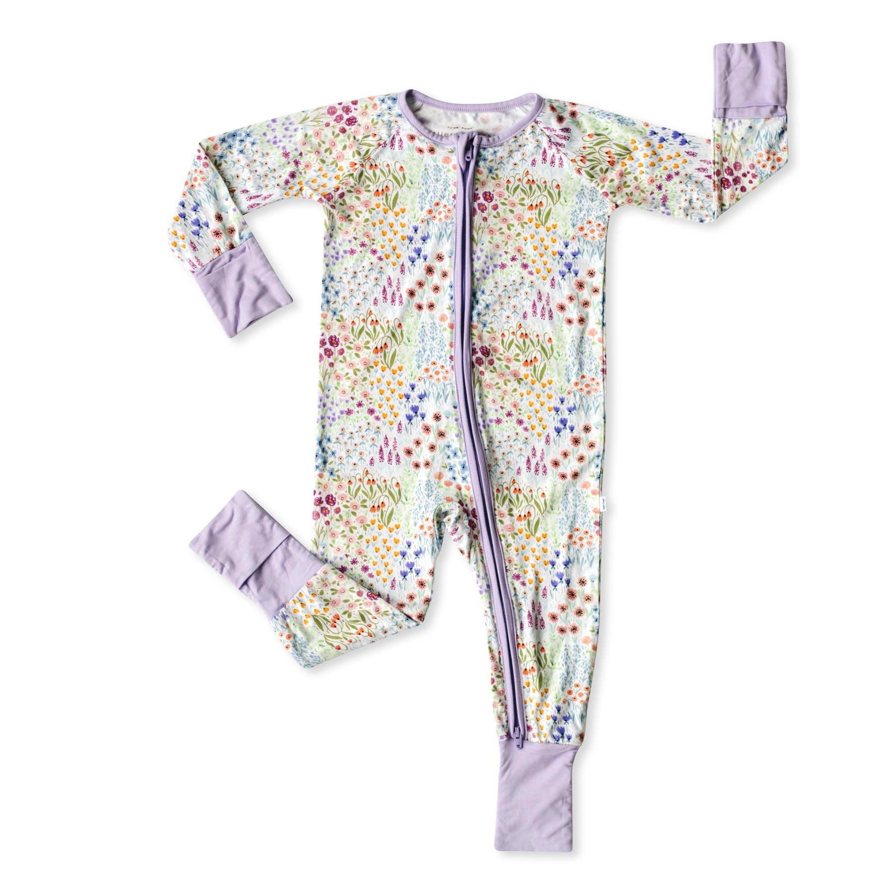 Little Sleepies Convertible Romper/Sleeper Flower Fields