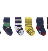 Robeez 6 Pk Socks, Varsity Multi Stripe