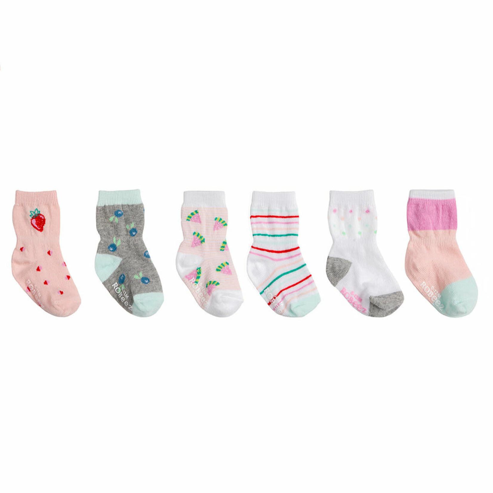 Robeez 6 Pk Socks, Fruity