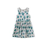 Tea Collection Button Shoulder Dress - Prickly Cacti