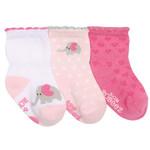 Robeez 3 Pk Socks, Little Peanut Pink