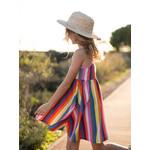 Tea Collection Spaghetti Strap Trapeze Dress - Vibrant Stripe