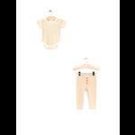 City Mouse Rib Bodysuit + Cuff Pant Sand