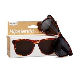 FCTRY Hipsterkid Golds Wayfarer Baby Sunglasses, Tortoise (0-2y)