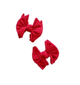 Baby Bling Bows 2pk Baby Fab Clip: Cherry