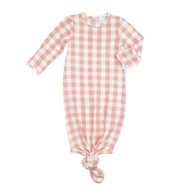 Angel Dear Gingham Knotted Gown Pink (0/3M)
