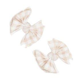 Baby Bling Bows 2pk Printed Baby Fab Clips: Petal Gingham