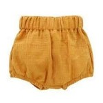 Emerson and Friends Mustard Gauze Baby Bloomers  3-6M