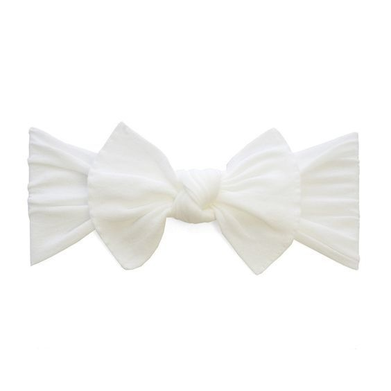 Baby Bling Bows Knot - White